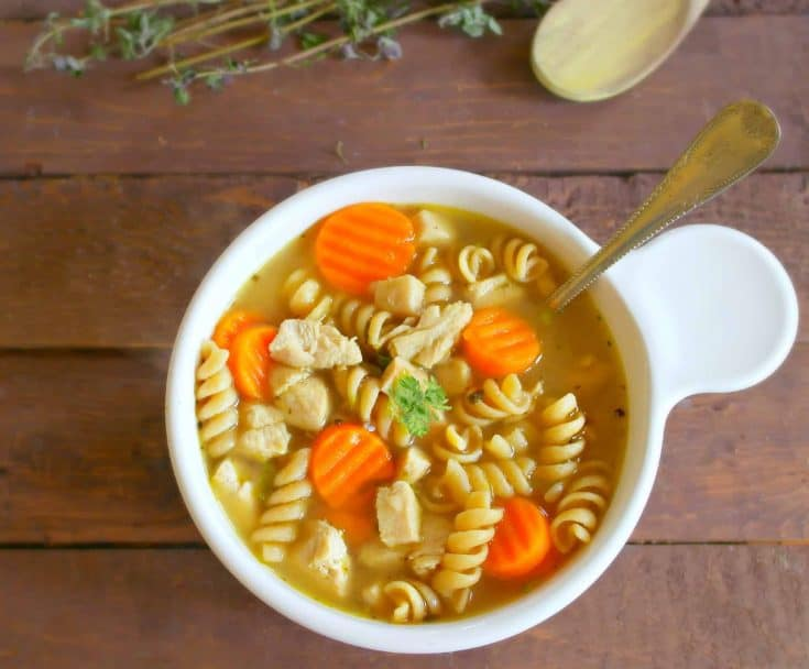 15 Minute Easy Chicken Noodle Soup