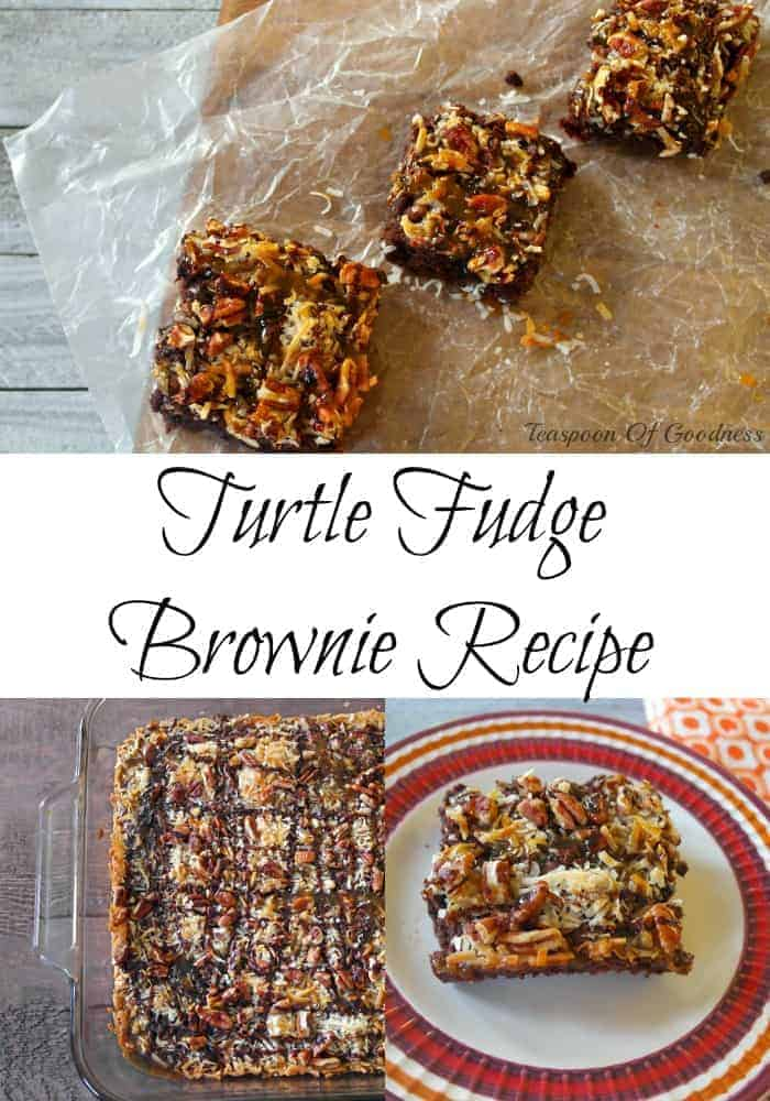 Turtle Fudge Brownie Recipe