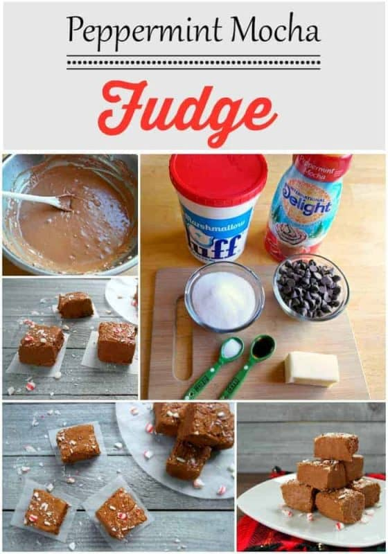 Peppermint Mocha Fudge With International Delight Coffee Creamer