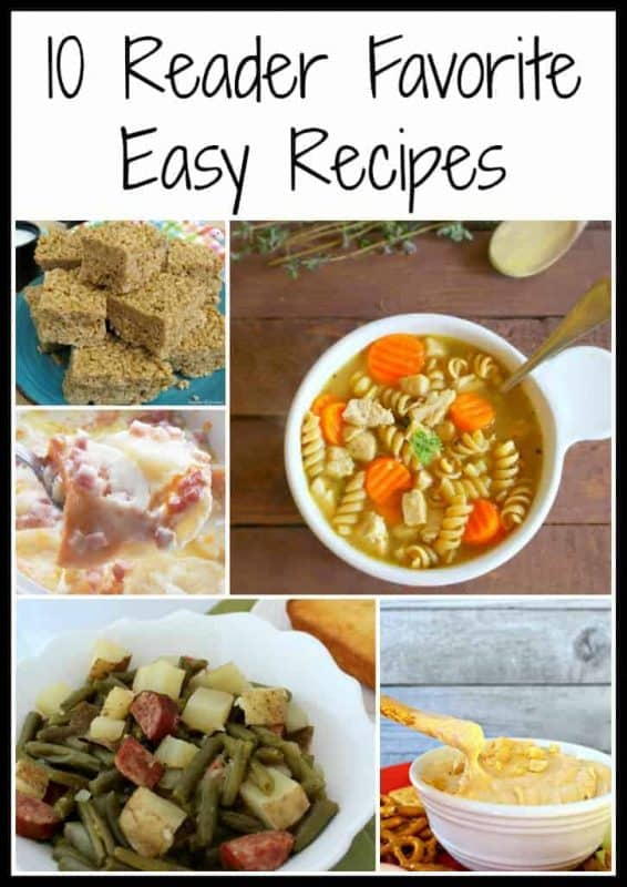 Looking for an easy dinner recipe?  Here are the 10 reader favorite easy recipes from the last year!   - Teaspoon Of Goodness