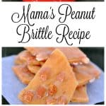 This unique recipe is my moms, and is the best peanut brittle recipe you will ever make. - Teaspoon Of Goodness