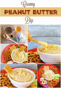 This Peanut Butter Dip is one of the easiest and most delicious snacks or desserts you will ever make. - Teaspoon Of Goodness