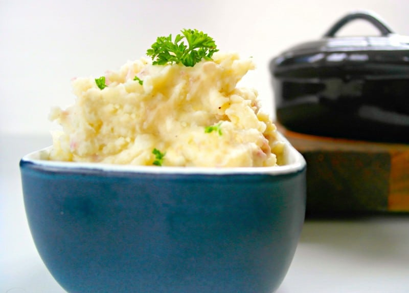 There is truly nothing in the world as delicious and comforting as these Slow Cooker Mashed Potatoes.  If you have a busy schedule, being able to make them in your slow cooker is a perfect choice. - Teaspoon Of Goodness