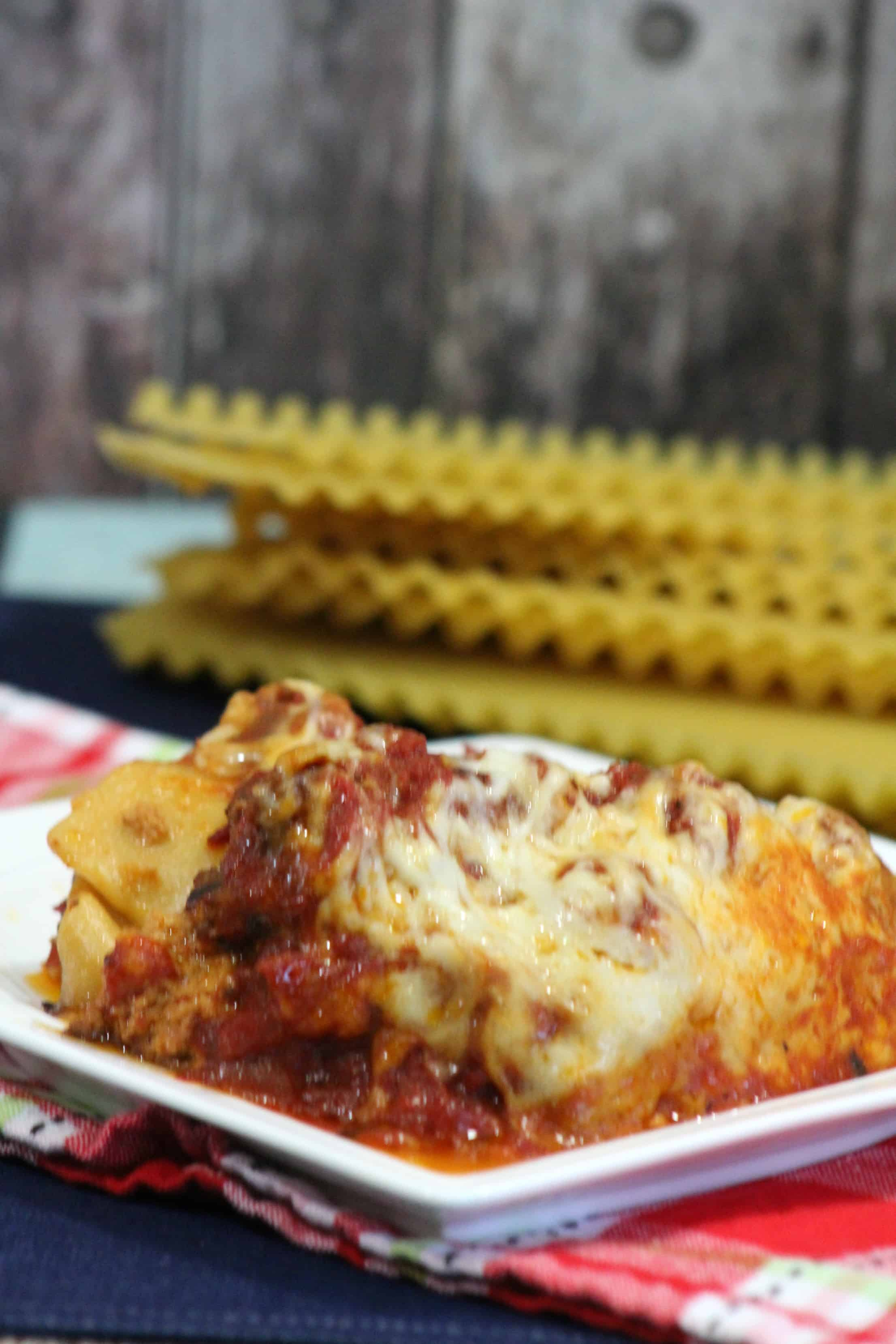 2 Meat Crockpot Lasagna