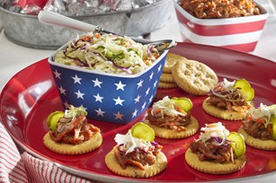 RITZ Pulled Pork Snackers