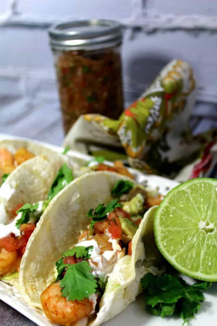 A good shrimp taco just can't be beat, and this Chipotle Shrimp Taco with an easy cream sauce is an ideal choice for a light meal everyone will love. - Teaspoon Of Goodness