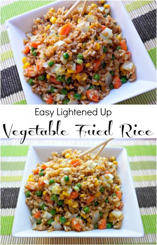 I am totally in love with this healthy easy fried rice recipe! Just because it is fried doesn't mean it can't be healthier, and this recipe proves that point. - Teaspoon of Goodness