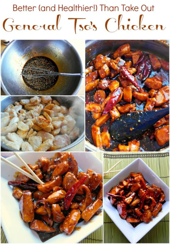 I love how much healthier this General Tso's Chicken recipe is! No batter or deep frying means this is a much healthier version of one of our favorite takeout meals. - Teaspoon Of Goodness