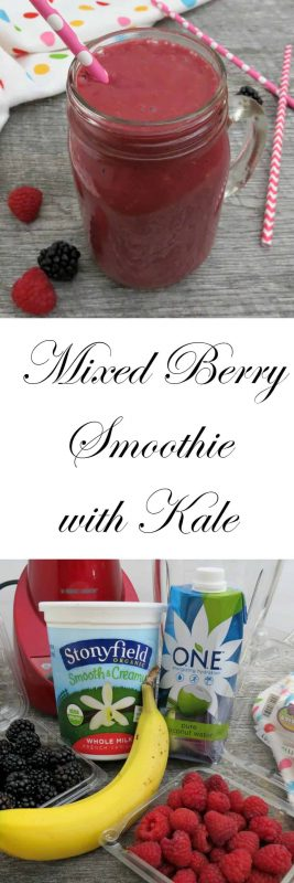 Smoothies like this and our Triple Berry Smoothie with Spinach are idea for getting your kids to eat healthier without a fuss. - Teaspoon Of Goodness