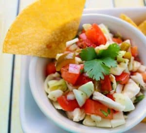 One of my favorite ways to amp up flavor without a ton of calories is to add a tasty salsa like this spicy Crunchy Cabbage Salsa Recipe to our meals. - Teaspoon of Goodness