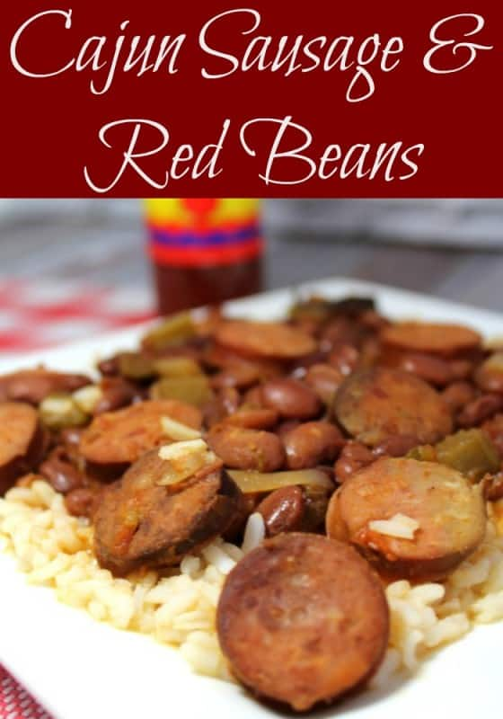 A great Cajun Sausage & Red Beans Recipe is an ideal dish for cool nights. Not only will it be hot and hearty over a bowl of rice, it is a great way to kick up the flavor in your menu plan. - Teaspoon Of Goodness