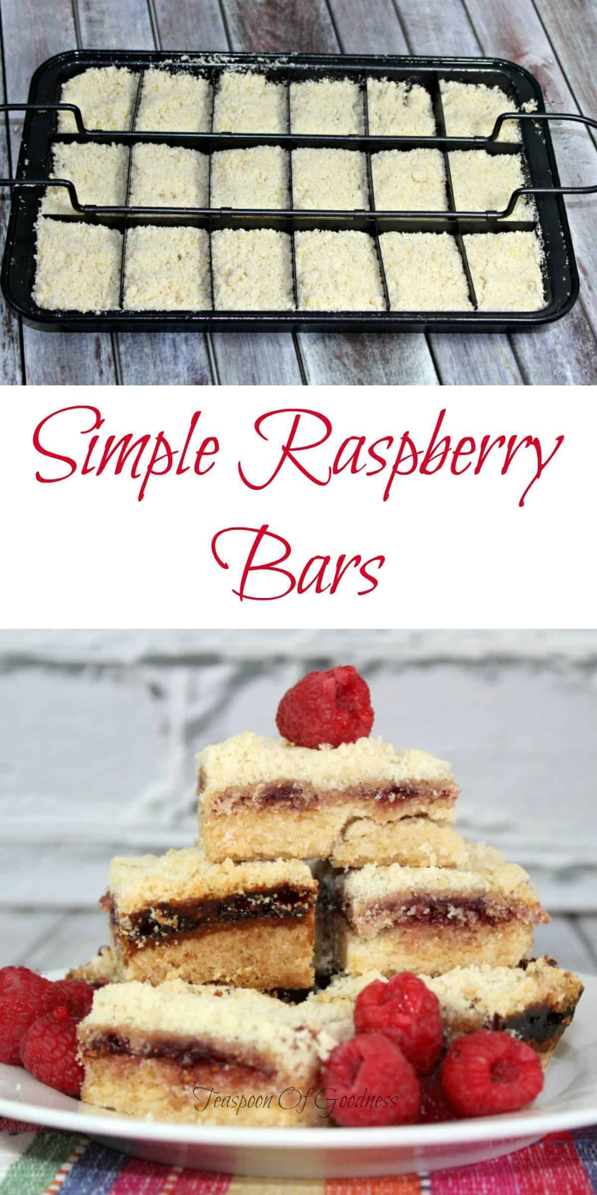 This simple raspberry bars recipe is a great cross between a blondie and a fruit bar that gives you everything you love about raspberry flavor. - Teaspoon Of Goodness