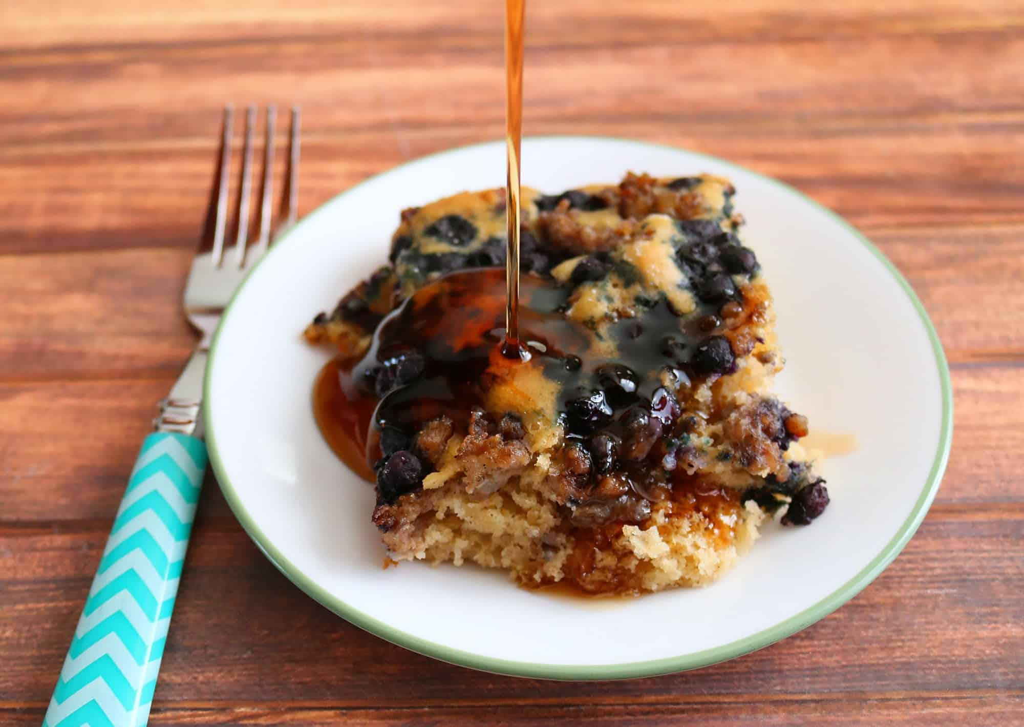 Blueberry Sausage Pancake Breakfast Bake Teaspoon Of