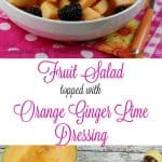 This Cantaloupe & Blackberry Easy Fruit Salad with an Orange Ginger Lime Dressing is ideal for serving up as a great addition to any meal, but even better for a special dinner party. - Teaspoon Of Goodness