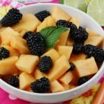 Easy Fruit Salad with an Orange Ginger Lime Dressing