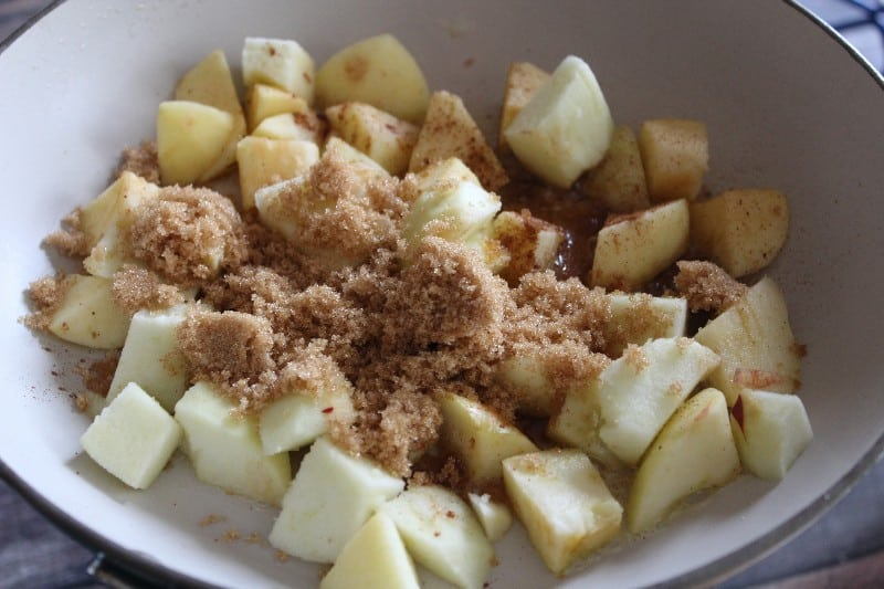 This Boozy Apple Ice Cream Topping can be made in just 15 minutes and takes your vanilla ice cream to a decadent new level! - Teaspoon of Goodness