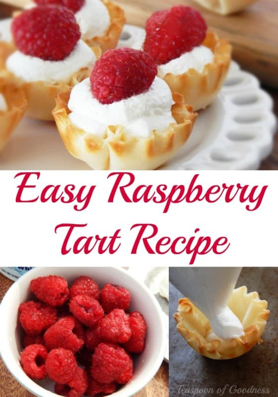 A few simple ingredients, and a few minutes of time and you can easily create a delicious raspberry tart that is ideal for taking to your weekend barbecue parties, or to add to a beautiful dinner party with friends. - Teaspoon of Goodness