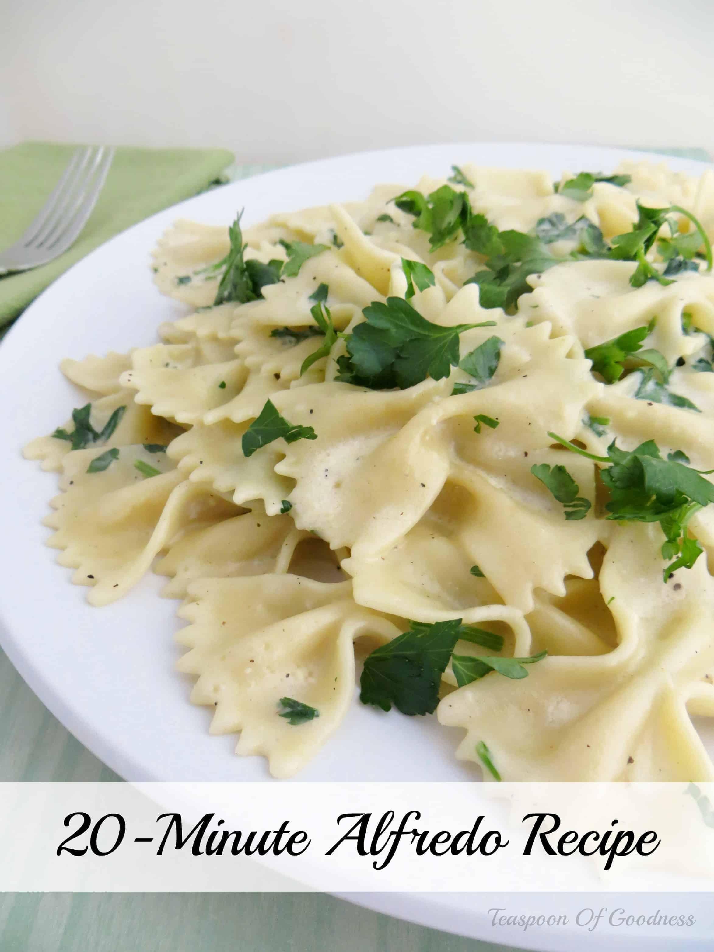 20-Minute Bow Tie Alfredo Pasta Recipe