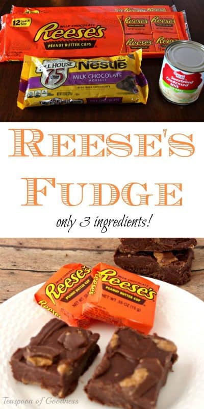 An easy no bake fudge bars recipe is one of my favorites. Add in Reese's peanut butter cups and you have a dream treat. - Teaspoon of Goodness