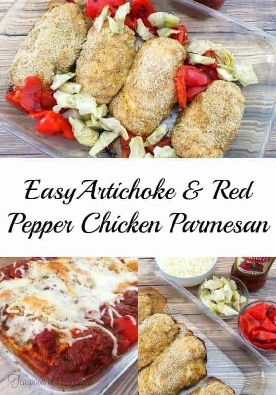 Tuscon Inspired Easy Chicken Parmesan is ideal for those busy weeknights when you want something that is special, but you don't have time to spend hours simmering a sauce. - Teaspoon of Goodness
