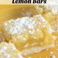 There is nothing more classic for a delicious sweet treat than a Lemon Bars Recipe. This easy and tasty dessert is one that everyone remembers having at some point in their childhood. - Teaspoon of Goodness