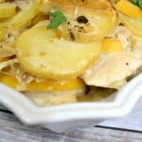 Easy Lemon Chicken Piccata Casserole