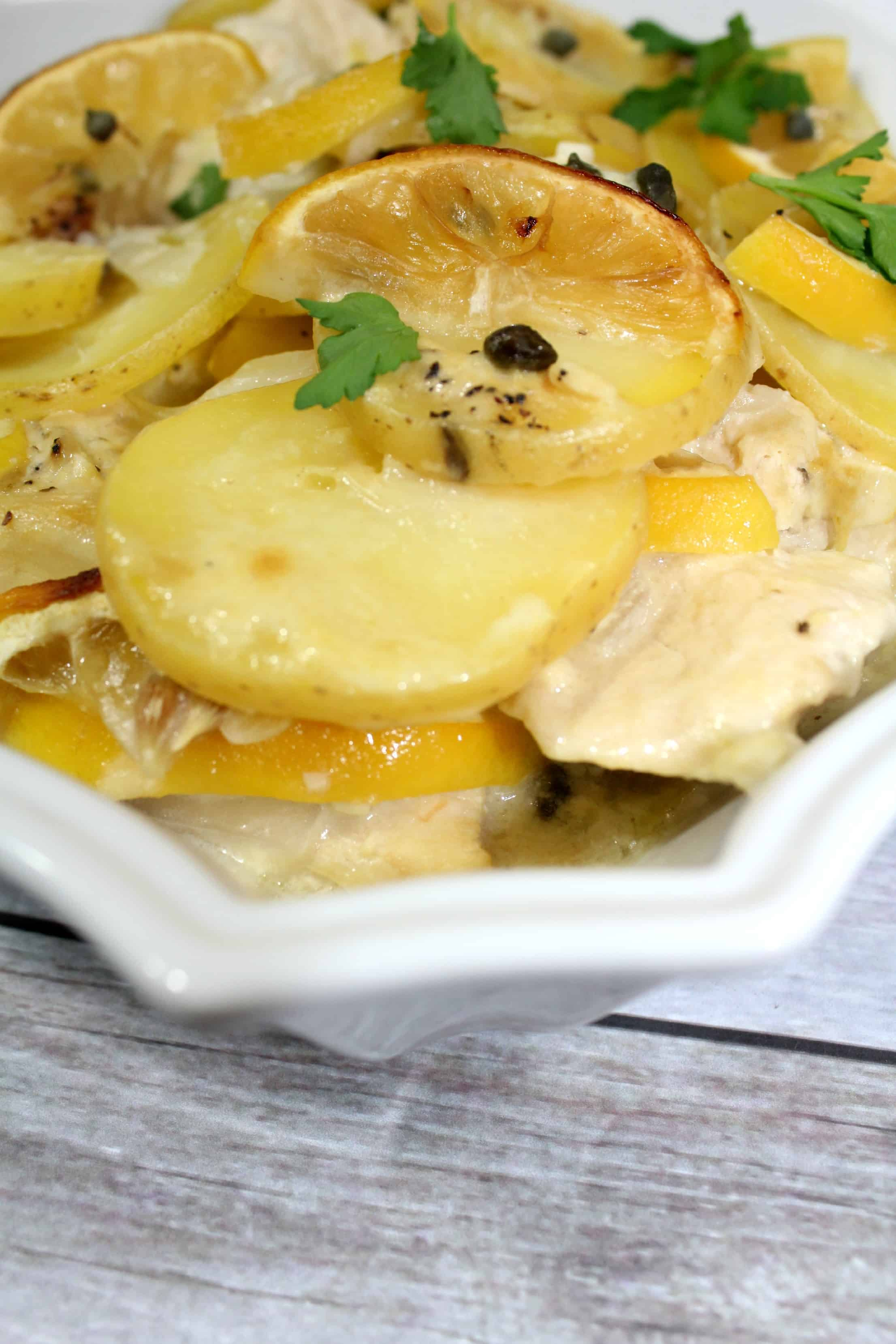 Easy Lemon Chicken Piccata Casserole