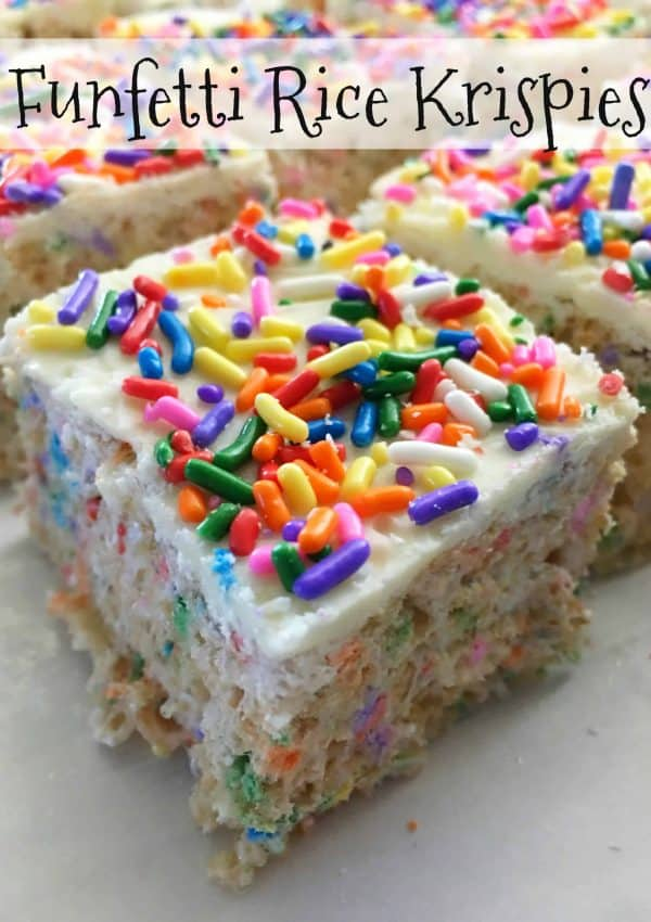 Everyone loves a good Homemade Rice Krispie Treats snack, and these Funfetti Rice Krispie Treats area a perfect choice to make for your next birthday party or special event. - Teaspoon of Goodness
