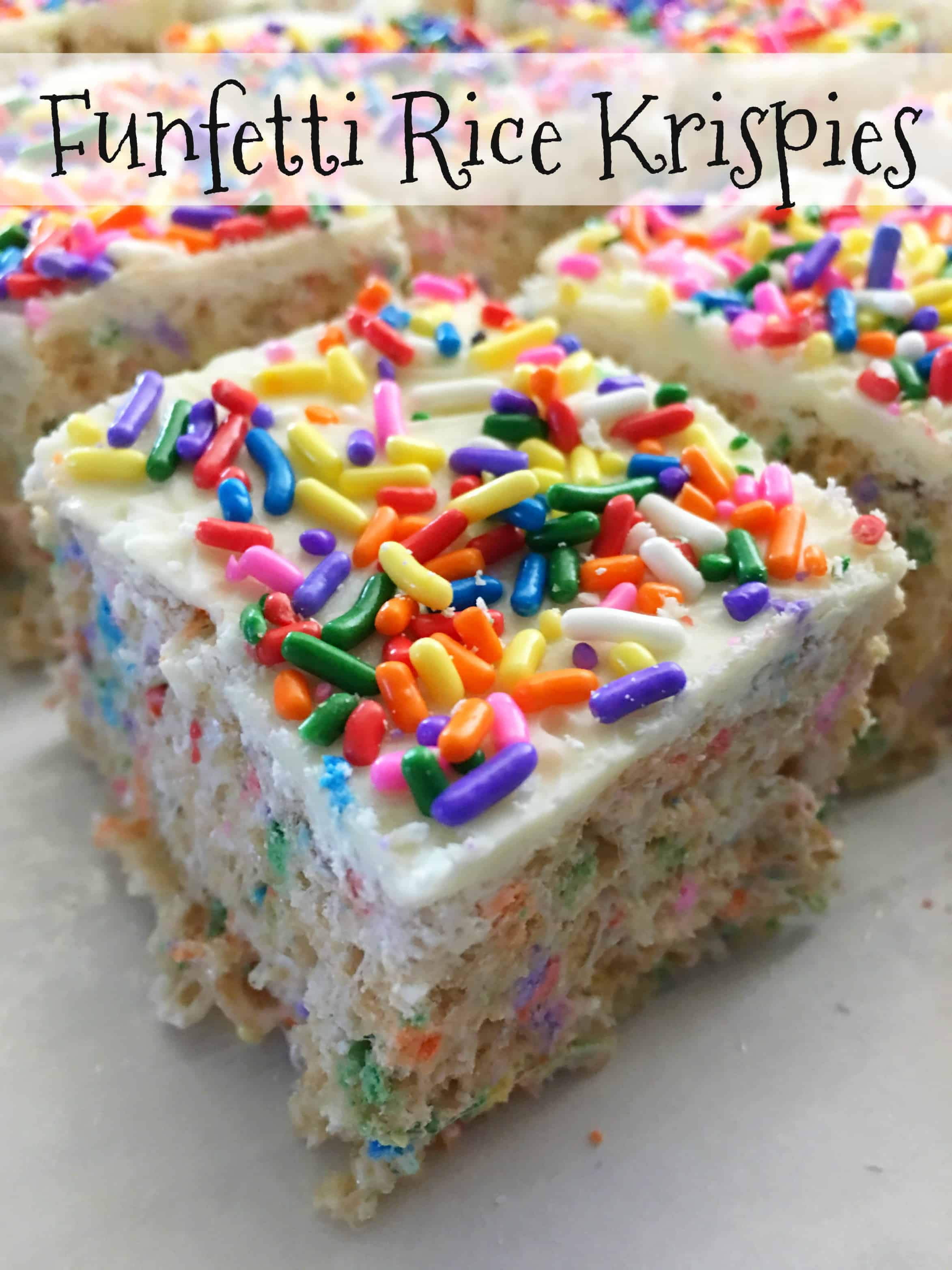 Funfetti Homemade Rice Krispie Treats