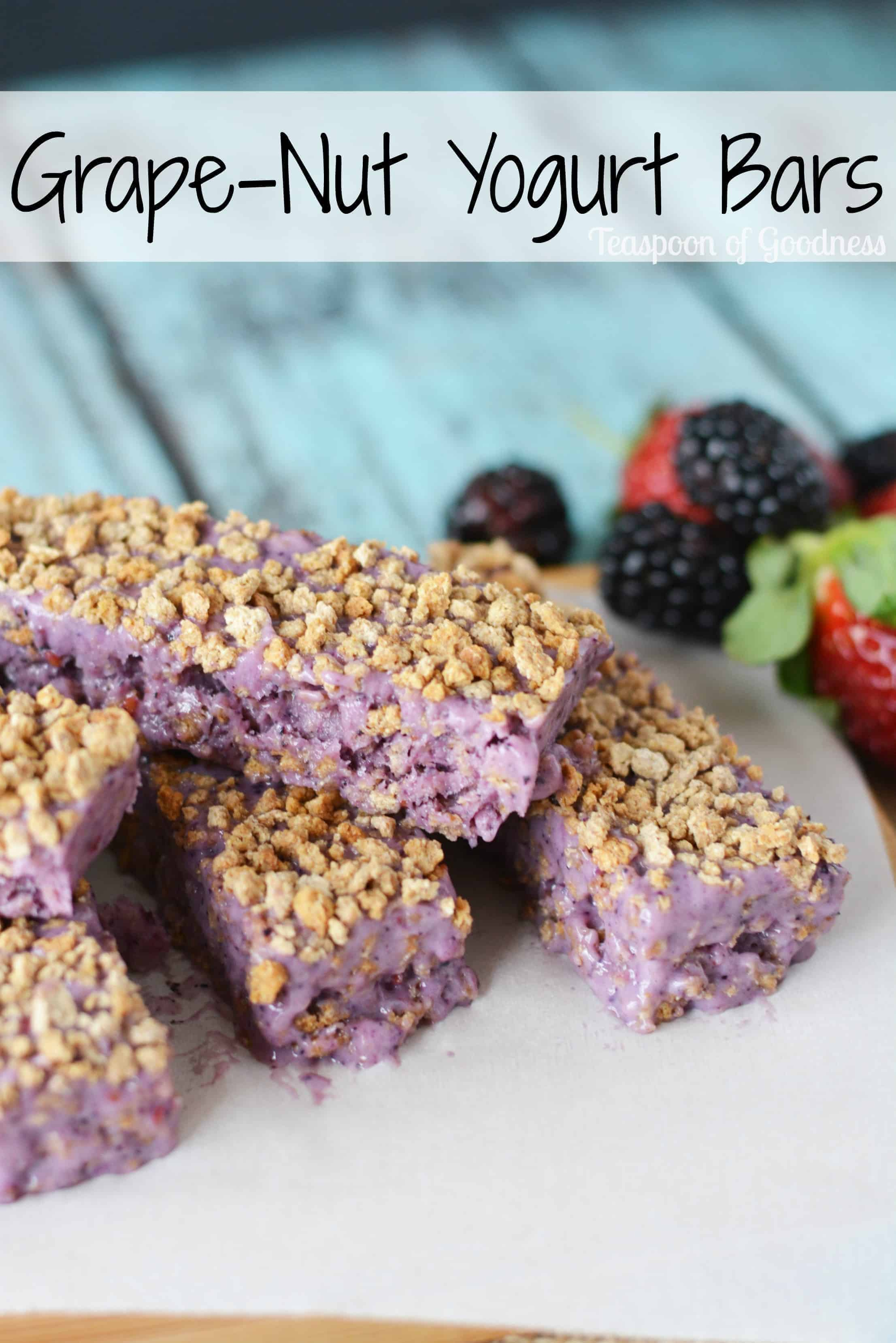 Grape-Nut Yogurt Bar Recipe