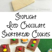 Stoplight Themed Iced Shortbread Cookies