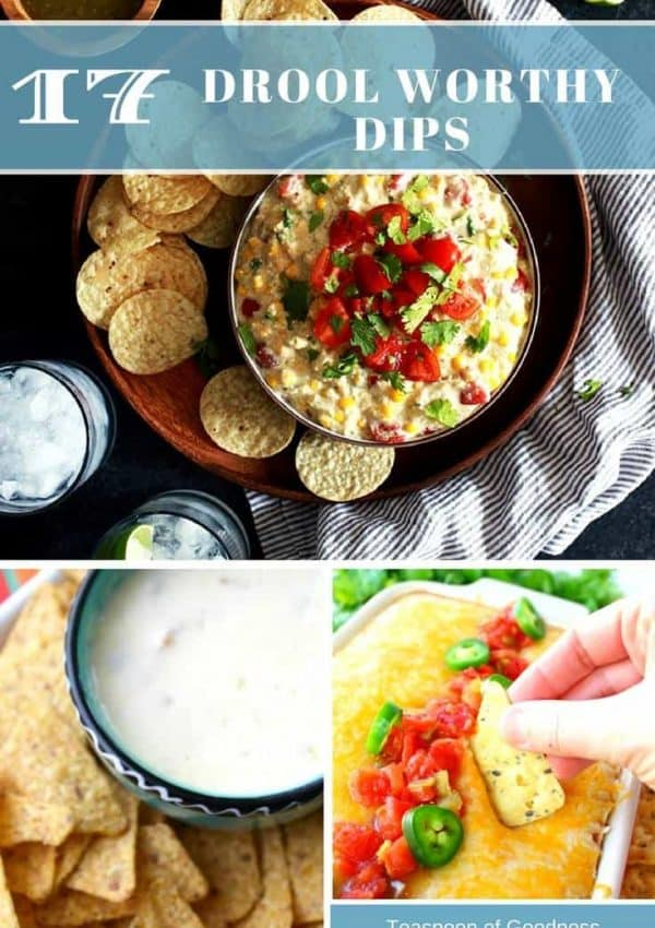 A collage with some of the best dip recipes from around the internet. Many are savory dips with a few sweet dips and of course cheese dips.