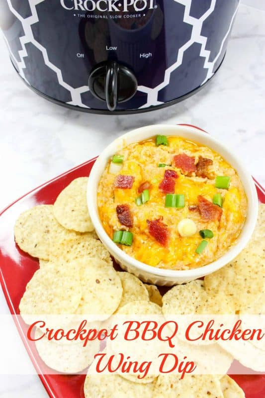 I am a huge fan of this Crockpot BBQ Chicken Wing Dip Recipe. BBQ is one of my favorite flavors, and this recipe makes it tons of fun for parties or snacking. - Teaspoon of Goodness