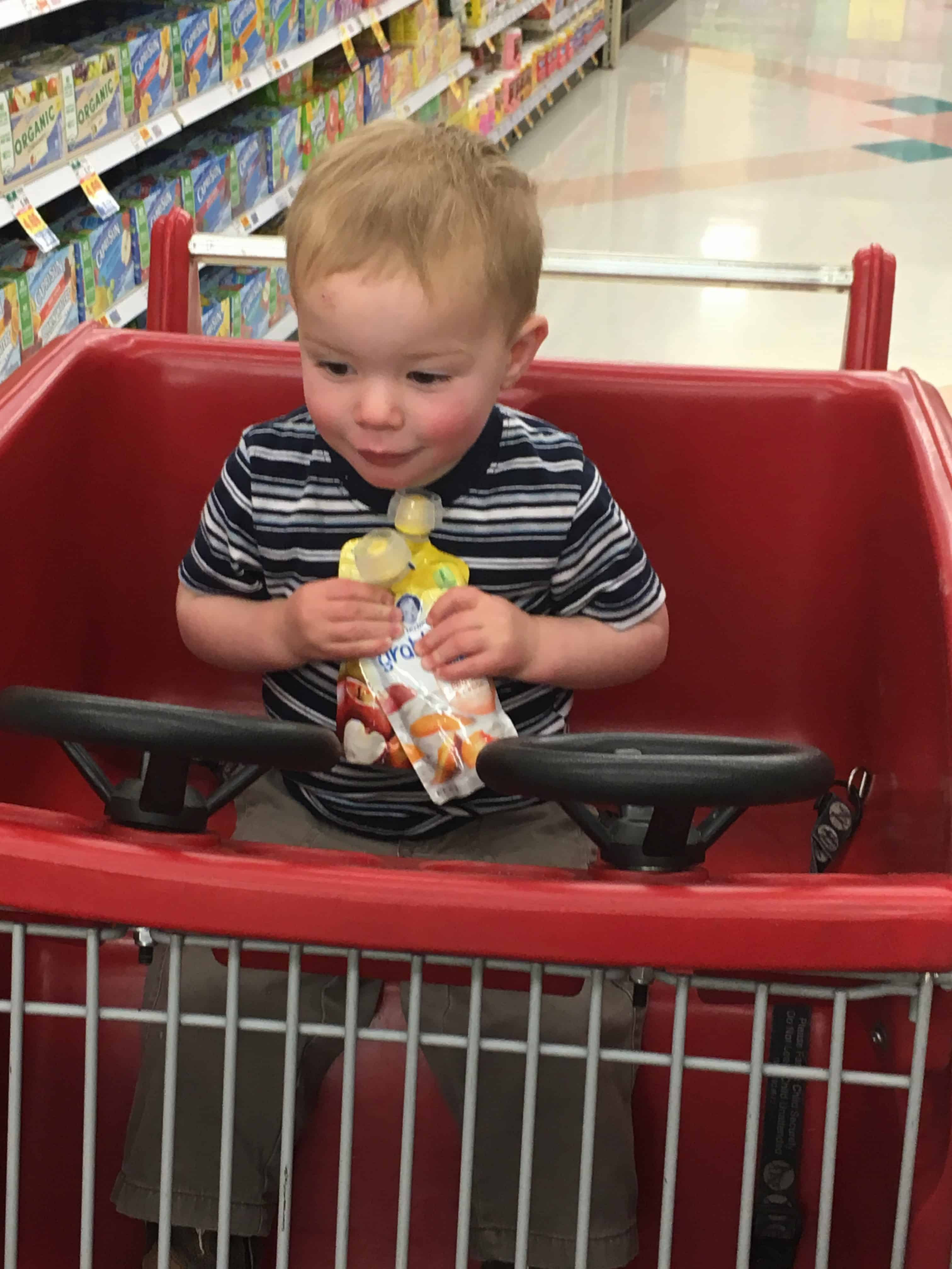 Moms and kids are both on the go these days. He gets hungry at the craziest times, so I want to be prepared whenever I can. I wanted to share 10 places you can store your Gerber® Smart Flow™ Pouch.