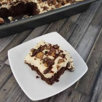 I am a huge fan of the classic poke cake, but this Peanut Butter Chocolate Poke Cake may very well be the best easy dessert recipe I have ever made. It is rich, decadent, easy to make, and satisfies all the cravings. - Teaspoon of Goodness