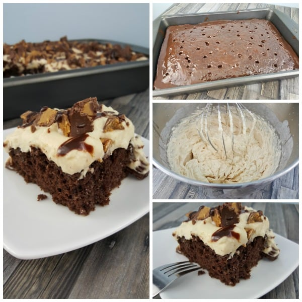 I am a huge fan of the classic poke cake, but this Peanut Butter Chocolate Poke Cake may very well be the best easy dessert recipe I have ever made. It is rich, decadent, easy to make, and satisfies all the cravings.