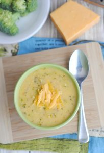 Creamy Cheesy Broccoli Soup is a classic meal that everyone loves. I, especially, love that kids will eat broccoli easily when in this delicious soup. - Teaspoon of Goodness