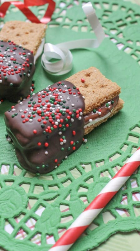 Nutella S'More's Christmas Cookies combine a wonderful classic marshmallow treat with a favorite chocolate hazelnut spread makes these something for kids and adults. - Teaspoon of Goodness