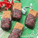 Nutella S'Mores Christmas Cookies combine a wonderful classic marshmallow treat with a favorite chocolate hazelnut spread makes these something for kids and adults. - Teaspoon of Goodness