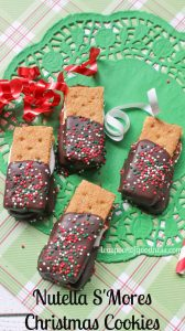 Nutella S'Mores Christmas Cookies