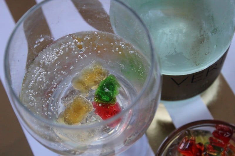 These Champagne Soaked Gummy Bears are perfect if you are looking for a unique last minute New Year's Eve treat that you can make with very little effort! - Teaspoon of Goodness
