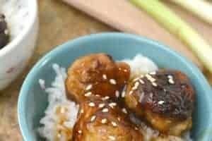 Teriyaki Honey Chicken Meatballs is a great way to take a traditional easy meatball recipe and take it to a whole new level. - Teaspoon of Goodness