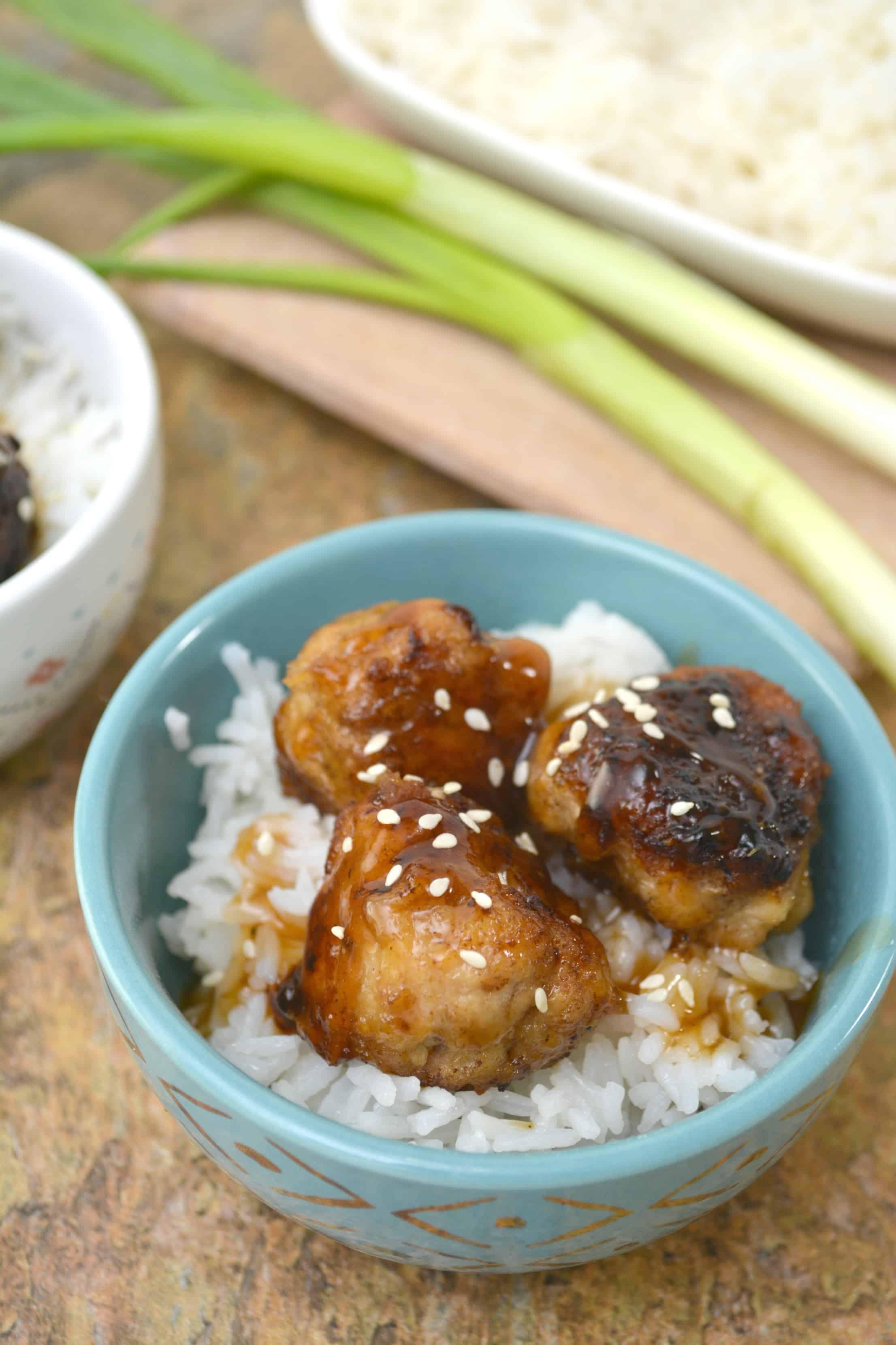 Teriyaki Honey Chicken Meatballs