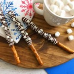 These dipped pretzels have a fantastic salty sweet taste that makes it perfect for an afternoon snack. - Teaspoon of Goodness