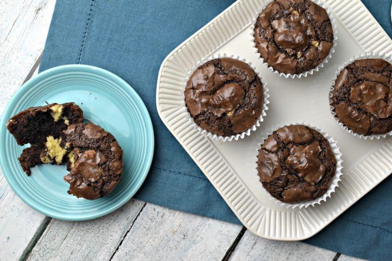 Chocolate Chip Stuffed Brownies