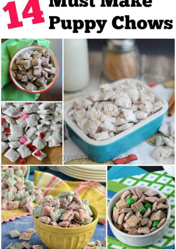 A roundup of the 14 best puppy chow recipes on the internet.