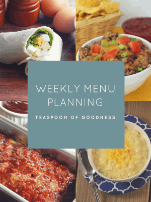 Weekly Meal Plan – Week 1
