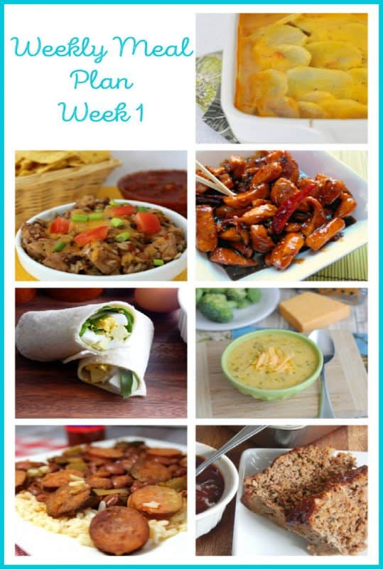 Weekly Meal Plan with 7 dinner choices