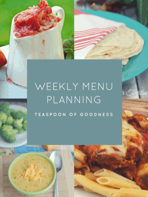 Weekly Menu Plan – Week 3