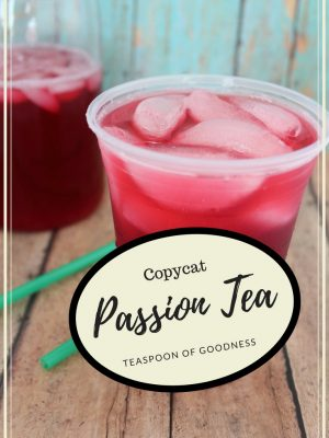 Starbucks Copycat passion tea lemonade recipe with tazo tea